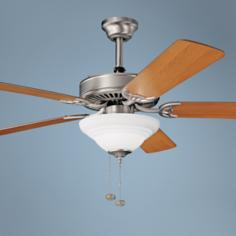 "52"" Sterling Manor Select Brushed Nickel Ceiling Fan"