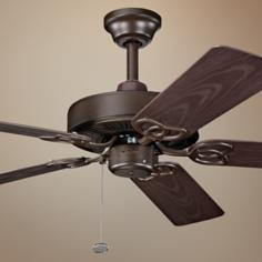 "52"" Kichler Sterling Manor Bronze Indoor Outdoor Ceiling Fan"