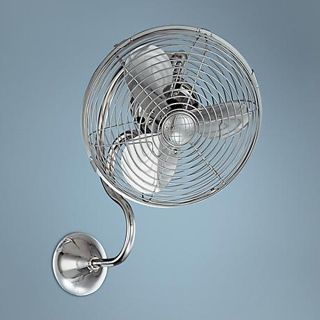 Melody Polished Chrome Finish Caged Wall Fan