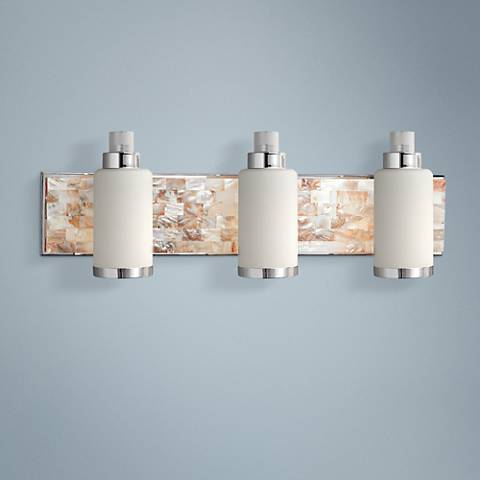 "Cashelmara Collection 25 1/2""-W Bathroom Light with Shells"