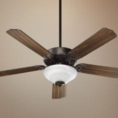 "52"" Quorum Capri Oiled Bronze Ceiling Fan"