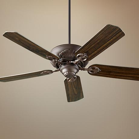 "52"" Quorum Chateaux Oiled Bronze ENERGY STAR Ceiling Fan"