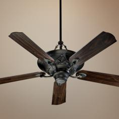 "56"" Quorum Salon Oiled Bronze Ceiling Fan"