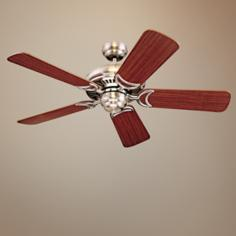 "44"" Designer Supreme II Brushed Steel Finish Ceiling Fan"