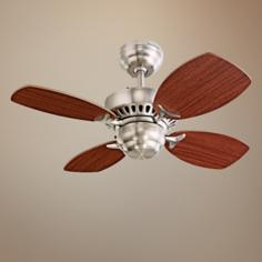 "28"" Colony II Brushed Steel Finish Ceiling Fan"