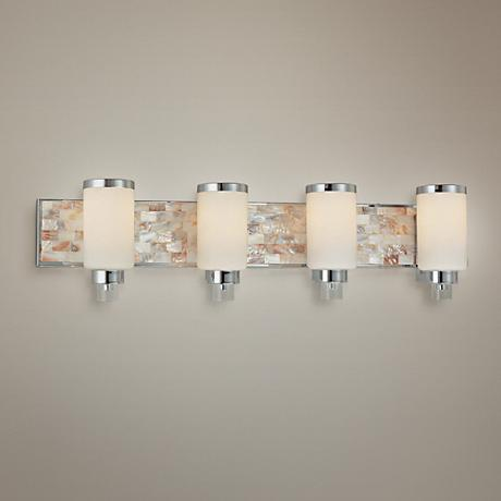 "Cashelmara Collection 34"" Wide Bathroom Light with Shells"