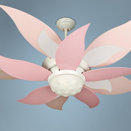 52 Quot Craftmade Bloom Pink And White Ceiling Fan With Light J1976 J1979 Lampsplus Com