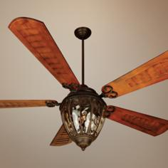 "70"" Craftmade Olivier Aged Bronze Outdoor Ceiling Fan"