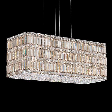 "Schonbek Quantum Collection 29 1/2"" Block Crystal Pendant"