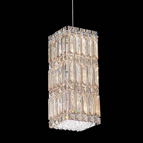 "Schonbek Quantum Block 5 1/2"" Gold Shadow Crystal Chandelier"
