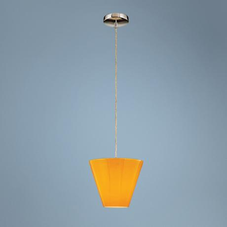 "George Kovacs Amber Glass 9 1/2"" Wide Mini Pendant Light"