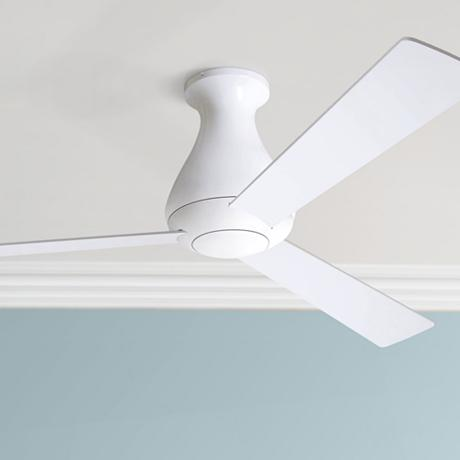 52 modern fan altus gloss white hugger ceiling fan Modern white ceiling fan