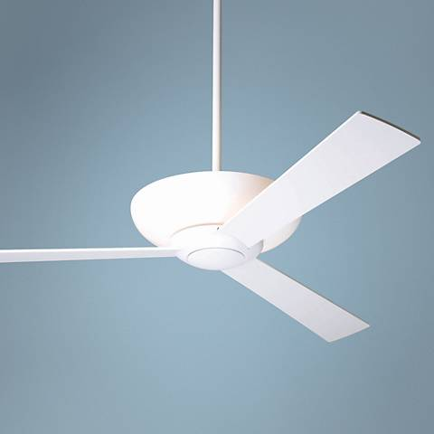 "52"" Modern Fan Aurora Gloss White Ceiling Fan with Uplight"