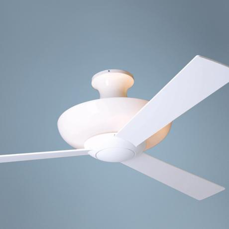 "52"" Gloss White Aurora Hugger with Uplight Ceiling Fan"