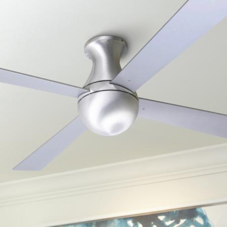 "52"" Modern Fan Aluminum Finish Ball Hugger Ceiling Fan"