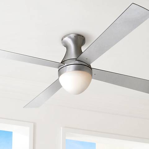 "52"" Ball Hugger Aluminum Finish w/ Light Ceiling Fan"
