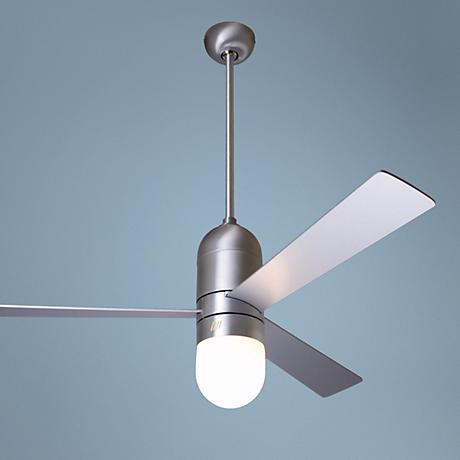 "52"" Cirrus Aluminum Finish Ceiling Fan with Light Kit"