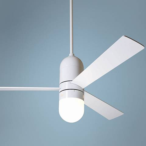 "52"" Modern Fan Cirrus Gloss White Light Kit Ceiling Fan"