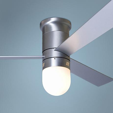 "52"" Cirrus with Light Aluminum Finish Hugger Ceiling Fan"