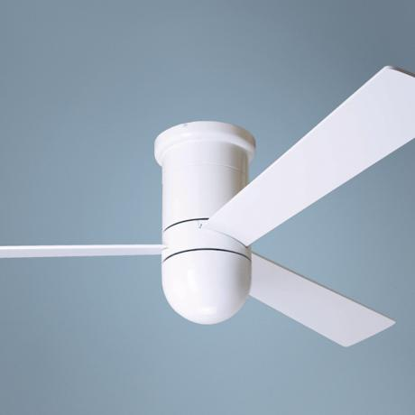"52"" Modern Fan Cirrus Gloss White Hugger Ceiling Fan"