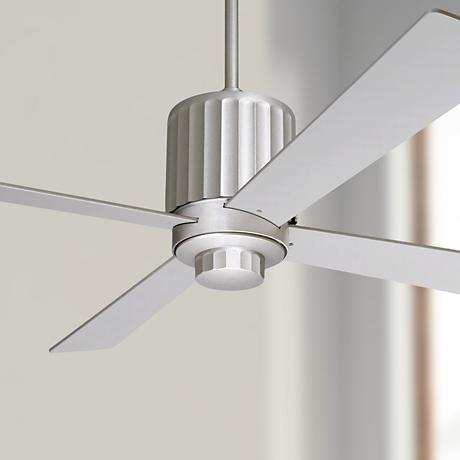 "52"" Modern Fan Flute Textured Nickel Ceiling Fan"