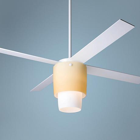 "52"" Modern Fan Halo White Light Kit Ceiling Fan"