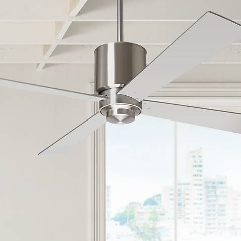 "50"" Modern Fan Lapa Bright Nickel Ceiling Fan"