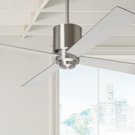 "52"" Modern Fan Lapa Bright Nickel Ceiling Fan"
