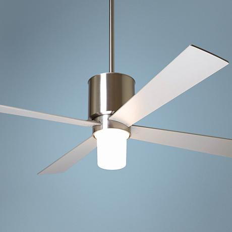 "52"" Modern Fan Lapa Bright Nickel with Light Ceiling Fan"