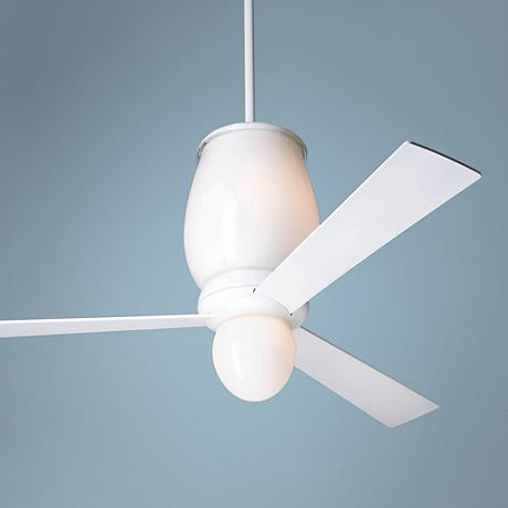 "52"" Modern Fan Lumina Gloss White with Light Ceiling Fan"