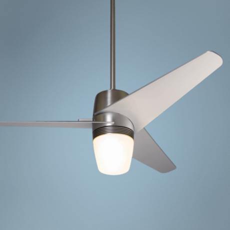 "50"" Velo Bright Nickel with Light Ceiling Fan"