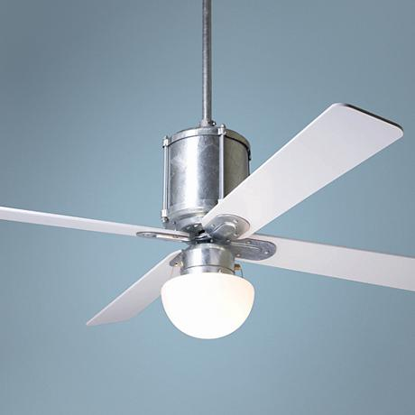"52"" Modern Fan Industry Galvanized with Light Ceiling Fan"