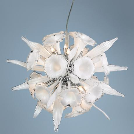 "Celebri Collection White 20"" Wide Chandelier"