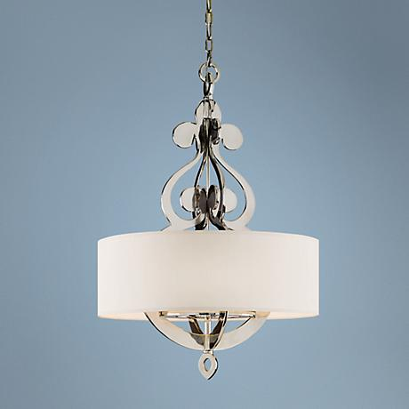 "Olivia Polished Nickel 29"" Wide Pendant Light"
