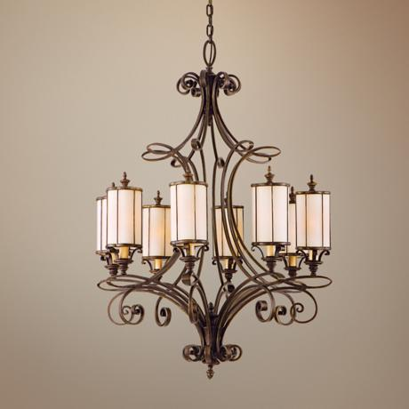 "Montecito Bronze 34 3/4"" Wide Chandelier"