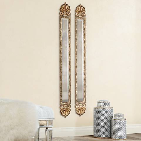 "Set of Two Uttermost Juniper 60"" High Wall Mirrors"