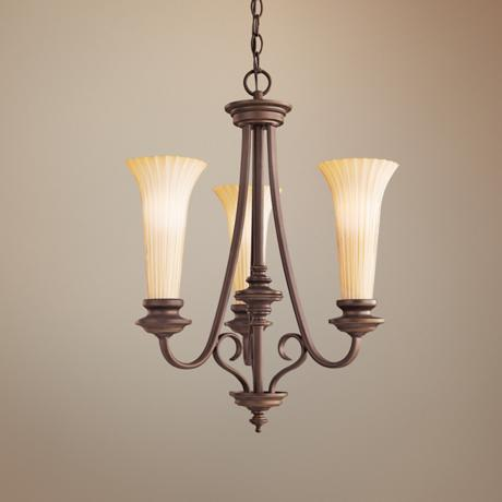 "Abbeyville Collection 19"" Wide 3-Light Chandelier"