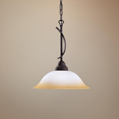"Pomeroy Collection Black 13 1/2"" Wide Pendant Light"