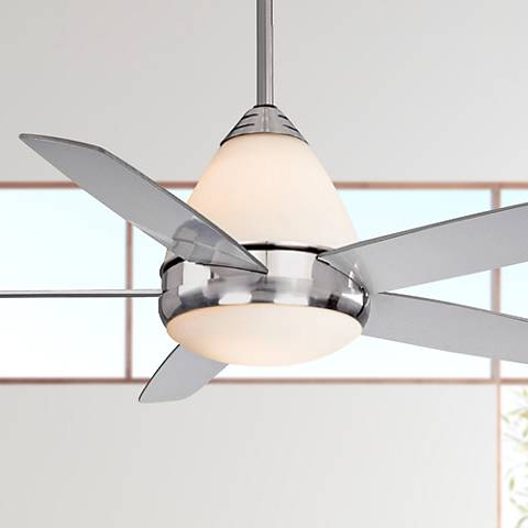 "52"" Vaxcel Fresco II Satin Nickel Finish Ceiling Fan"