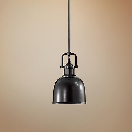 "Parker Place Solid Dark Bronze 8"" Wide Mini Pendant  Light"