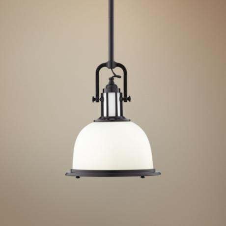 "Parker Place Dark Bronze 13"" Wide Pendant  Light"