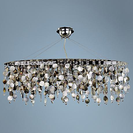 "Midnight Pearl 38"" Wide Large Pendant Chandelier"