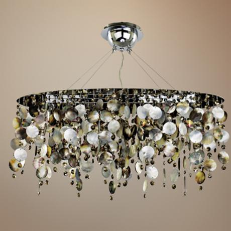 "Midnight Pearl 25 1/2"" Wide Pendant Chandelier"
