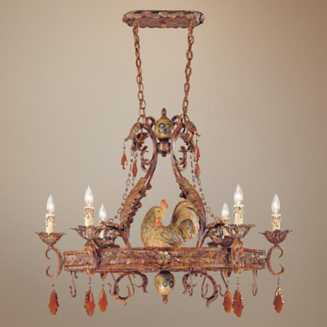"Tracy Porter Clyde Collection 23"" Wide Pot Rack Chandelier"
