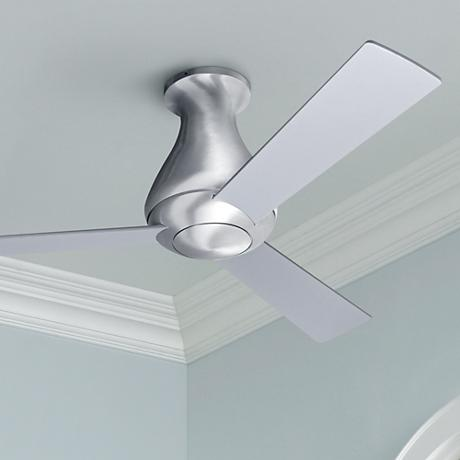 "42"" Modern Fan Altus Aluminum Finish Hugger Ceiling Fan"