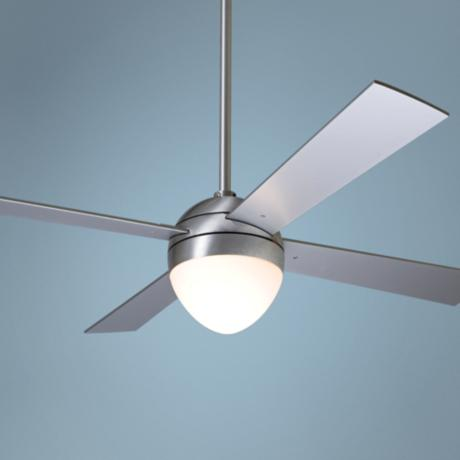 "42"" Modern Fan Aluminum Finish Ball with Light Ceiling Fan"