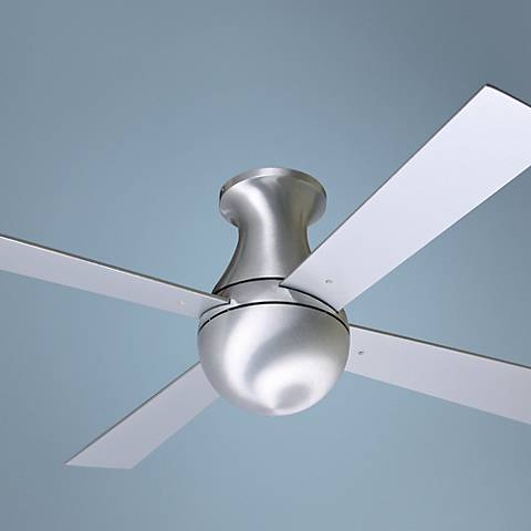 "42"" Modern Fan Aluminum Finish Ball Hugger Ceiling Fan"