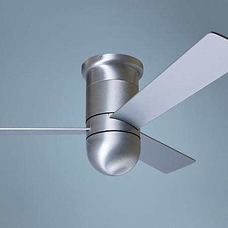 "42"" Modern Fan Cirrus Aluminum Finish Hugger Ceiling Fan"