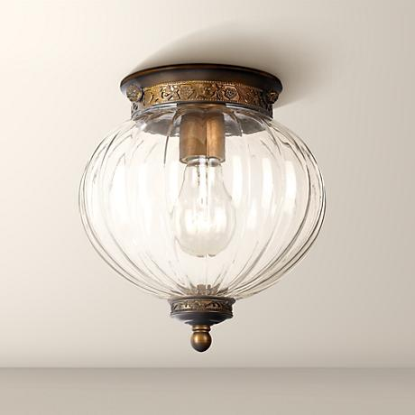 "Crystorama Camden Brass 9"" High Ceiling Light"