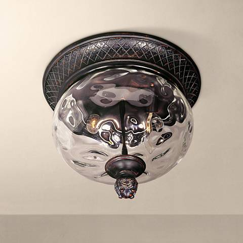 "Carriage House Collection 12"" Wide Ceiling Light"